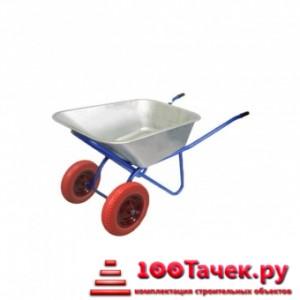 Тачка 100л Строительная (синяя) с усиленными колесами 4,8 D20