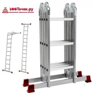 Лестница-трансформер 4*4 13,5 кг. бол. замок (МИ)