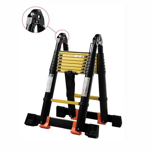 Лестница-стремянка телескопическая МИ ПРОФИ 3.2м/6.4м 9 ступеней