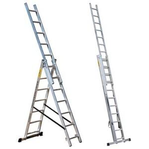 Лестница 10 ступеней трехсекционная (СТАНДАРТ)